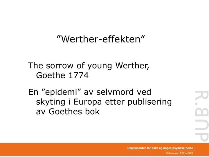 """""""Werther-effekten"""""""