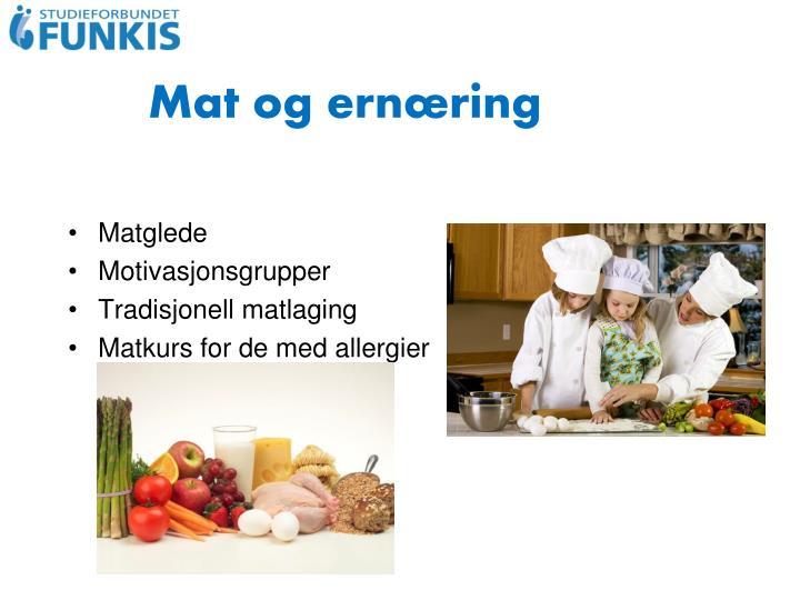 Mat og ernæring