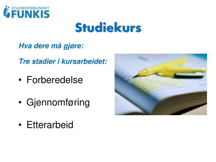 Studiekurs