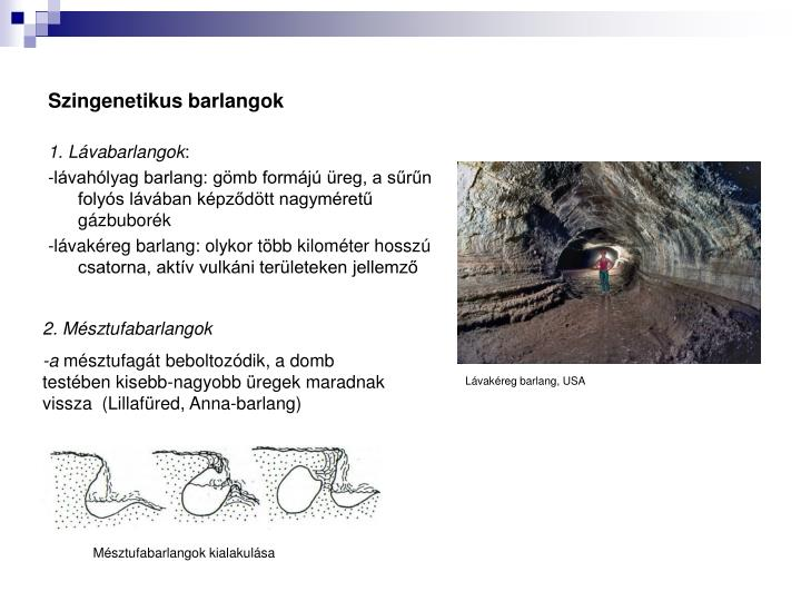 Szingenetikus barlangok