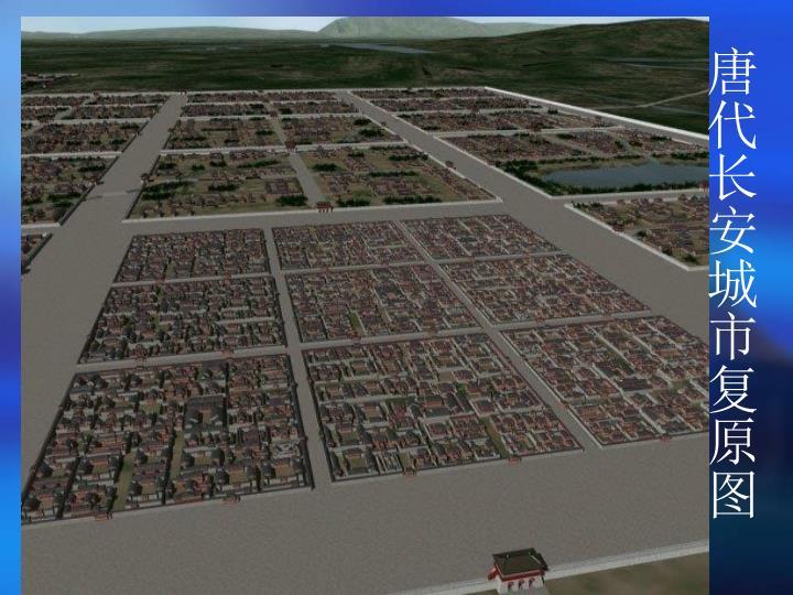 唐代长安城市复原图
