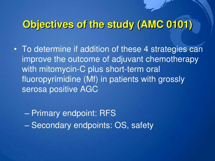 Objectives of the study (AMC 0101)