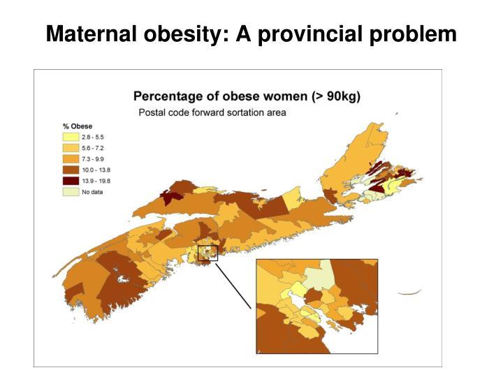 Maternal obesity: A provincial problem