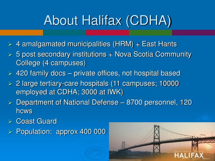 About Halifax (CDHA)