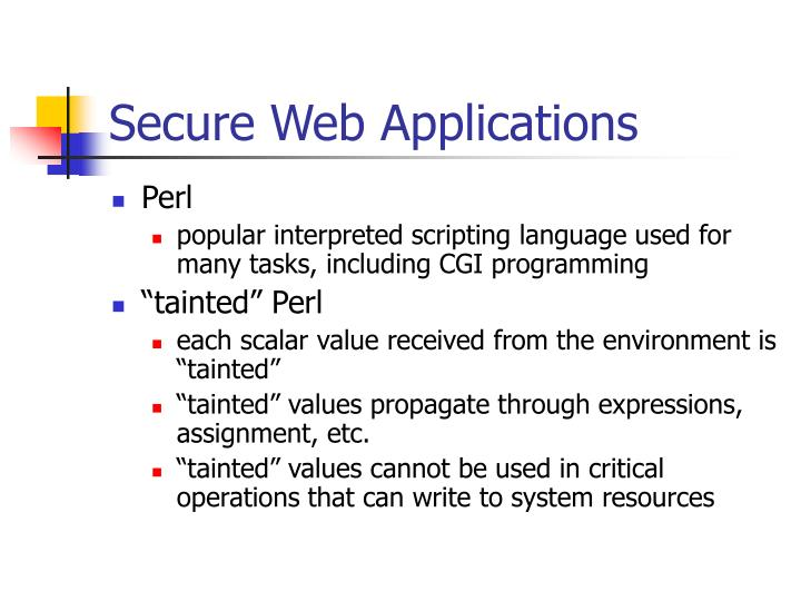 Secure Web Applications