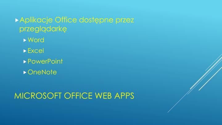 Aplikacje Office dostępne przez przeglądarkę