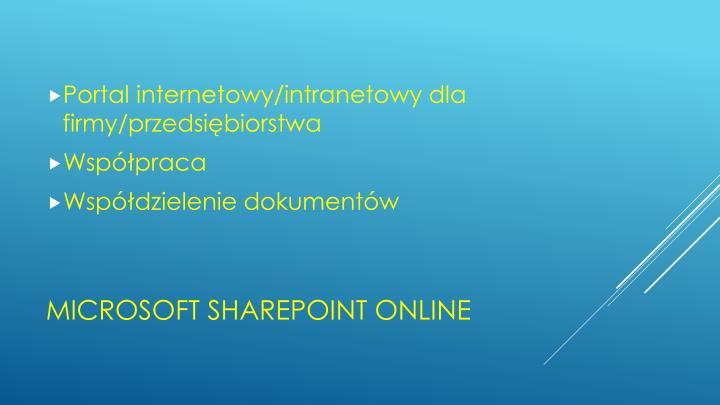 Portal internetowy/intranetowy dla firmy/przedsiębiorstwa