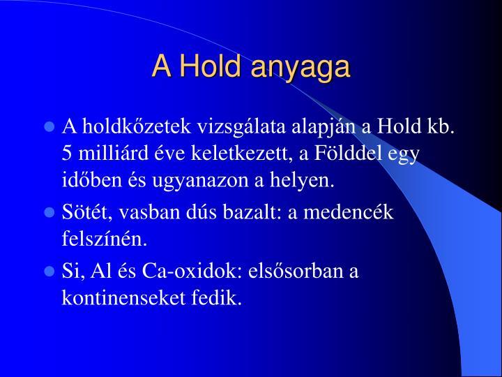 A Hold anyaga