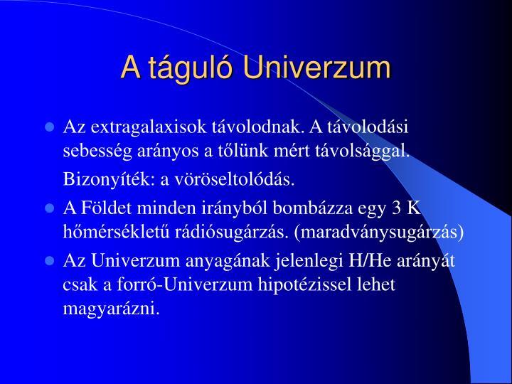 A táguló Univerzum