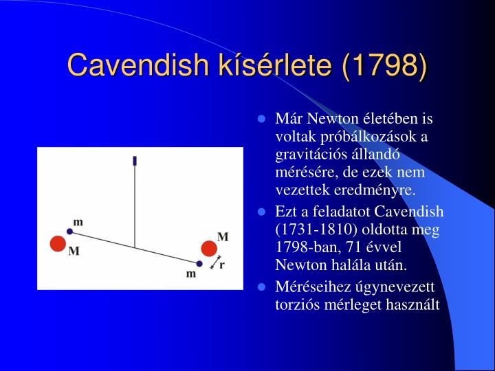 Cavendish kísérlete (1798)