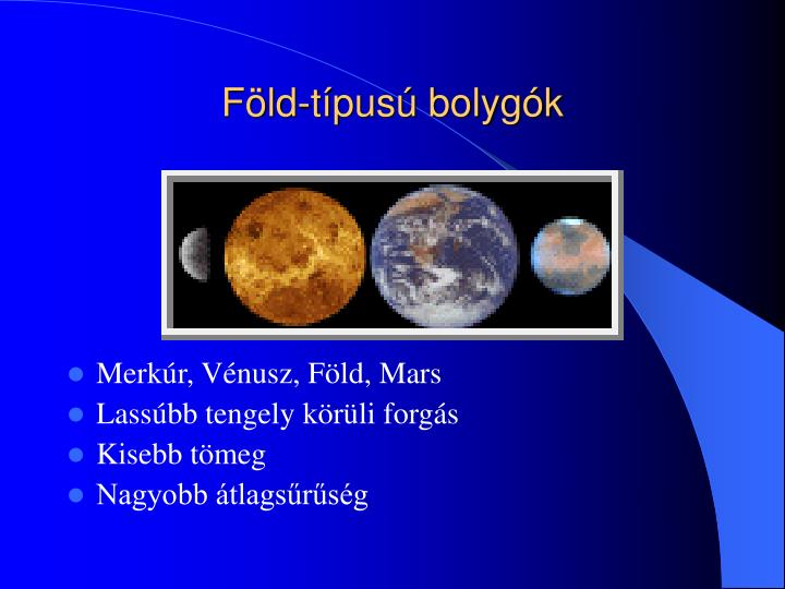 Föld-típusú bolygók