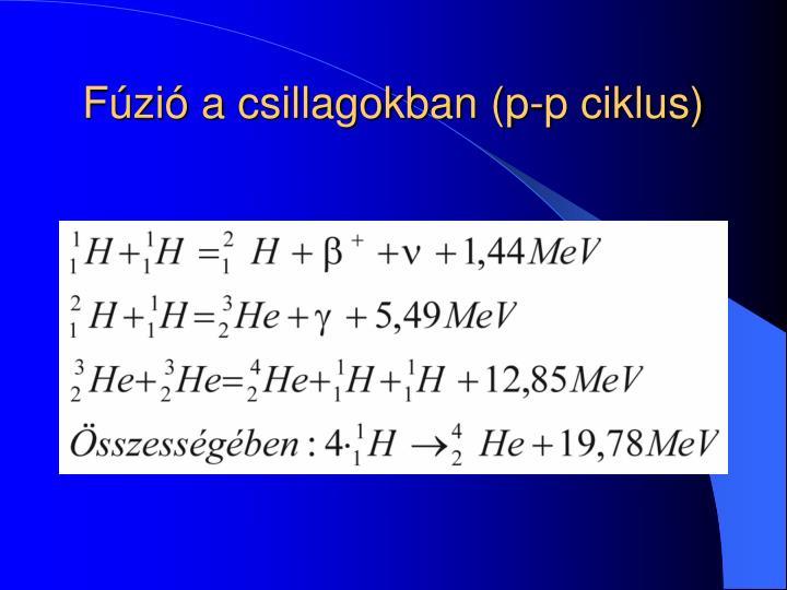 Fúzió a csillagokban (p-p ciklus)