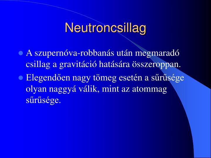 Neutroncsillag