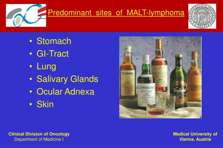 Predominant  sites  of  MALT-lymphoma