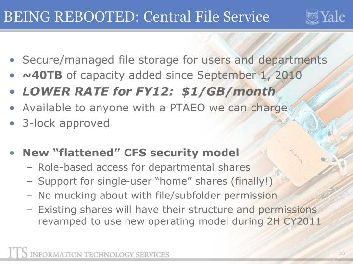 BEING REBOOTED: Central File Service