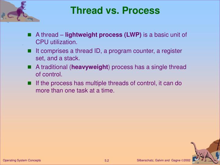 Thread vs. Process