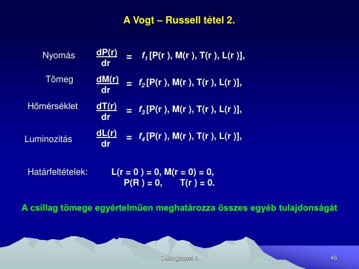 A Vogt – Russell tétel 2.