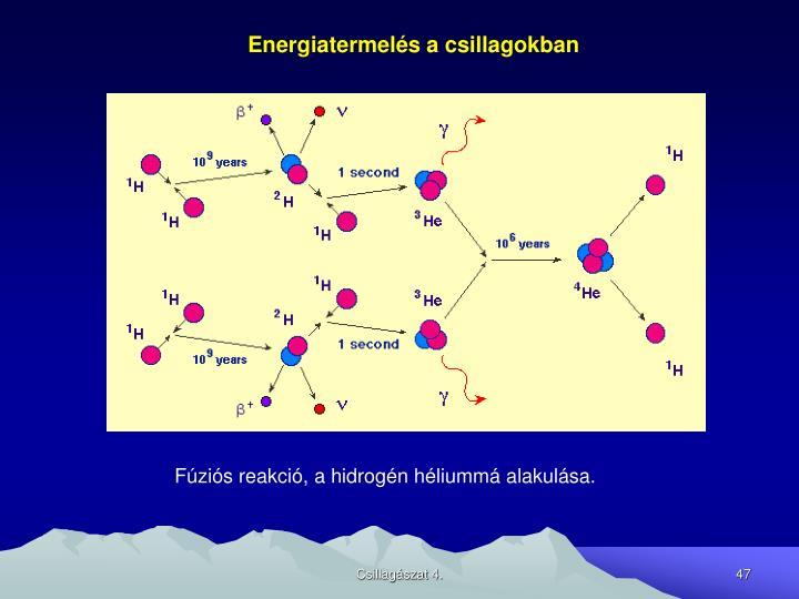 Energiatermelés a csillagokban