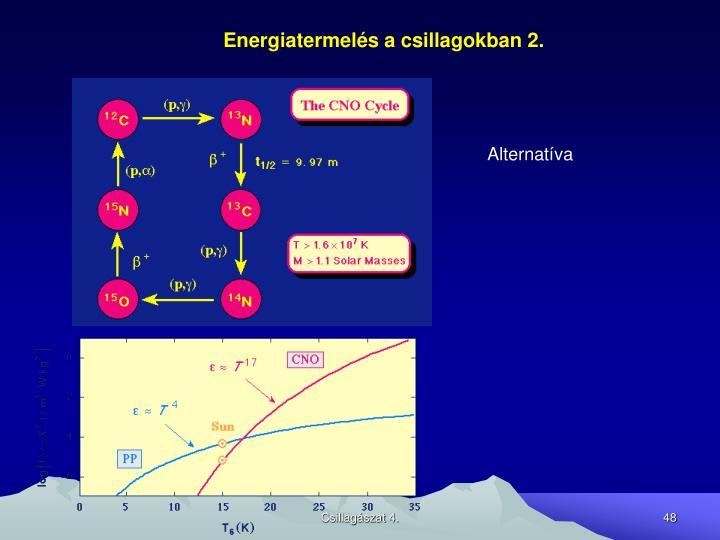Energiatermelés a csillagokban 2.