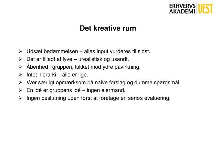 Det kreative rum