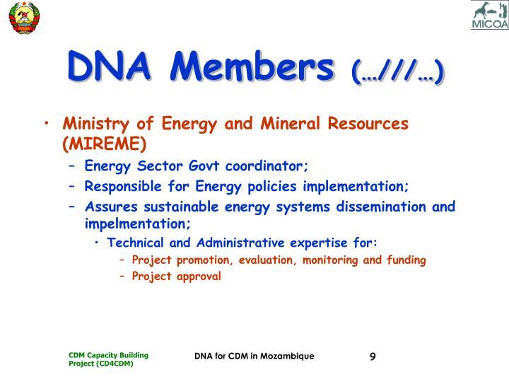 DNA Members