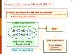 period calibration method pcm1