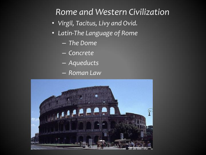 Rome and Western Civilization