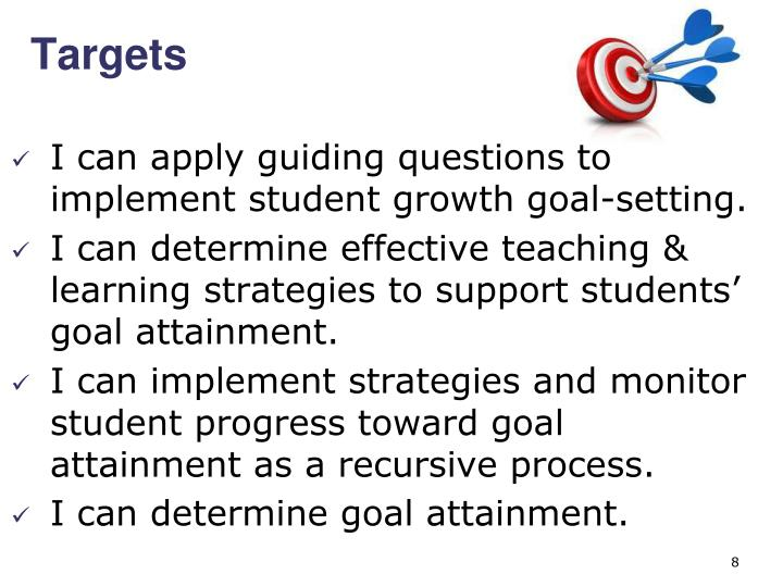 I can apply guiding questions to implement student growth goal-setting.