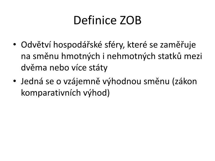 Definice ZOB