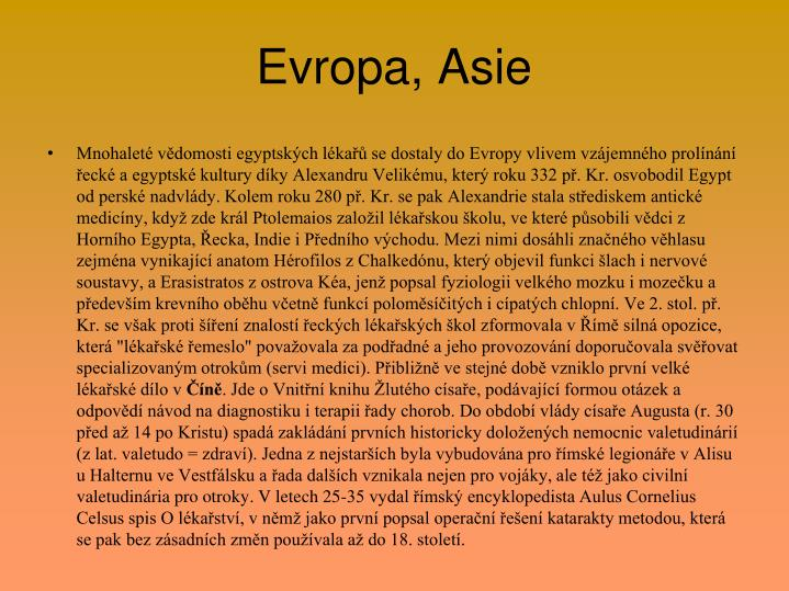 Evropa, Asie