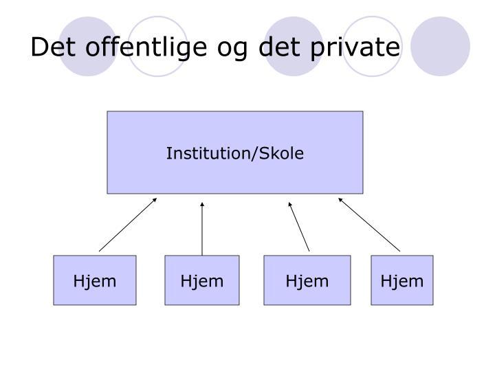 Det offentlige og det private