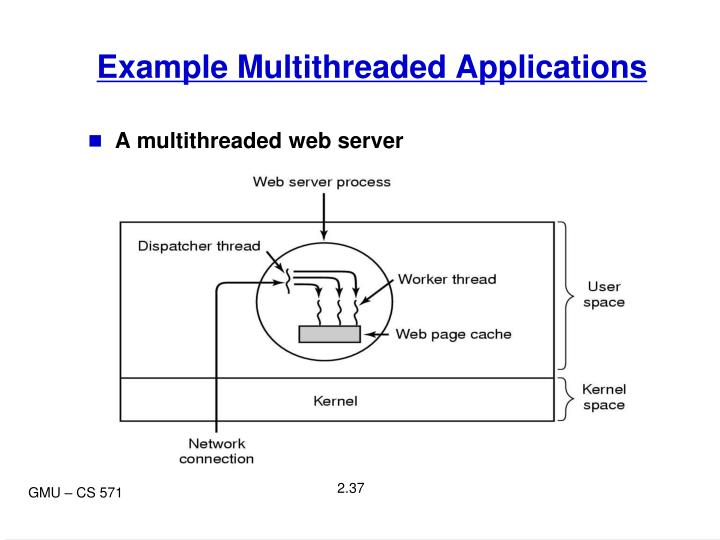 Example Multithreaded Applications