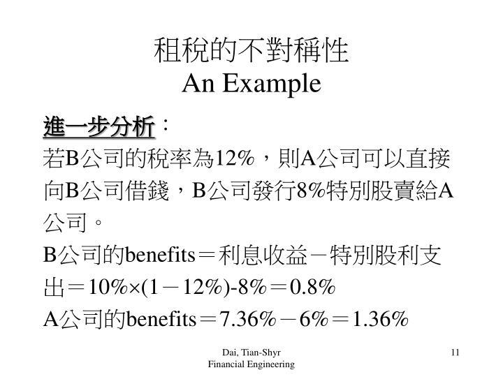 租稅的不對稱性
