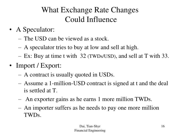 What Exchange Rate Changes