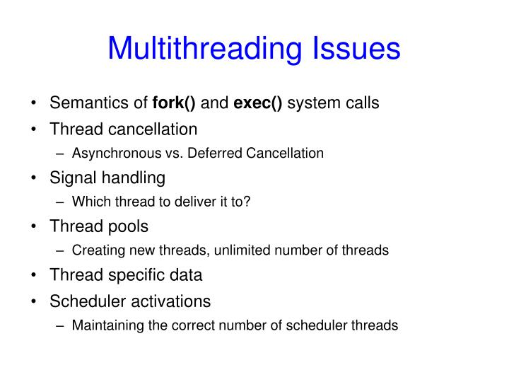 Multithreading Issues