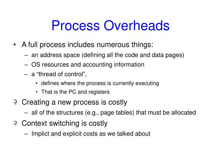 Process Overheads