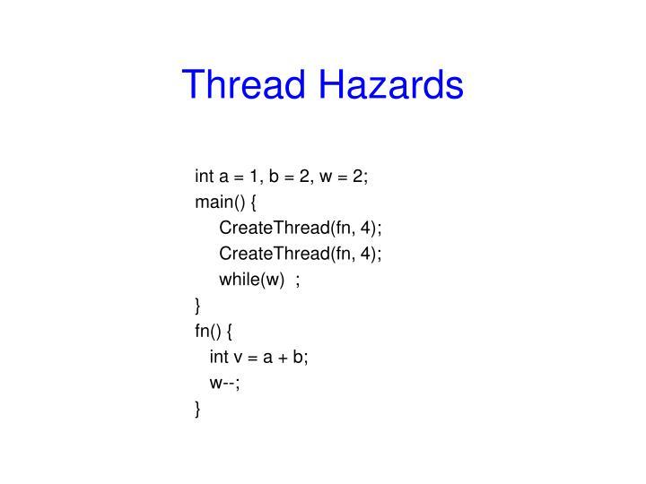 Thread Hazards