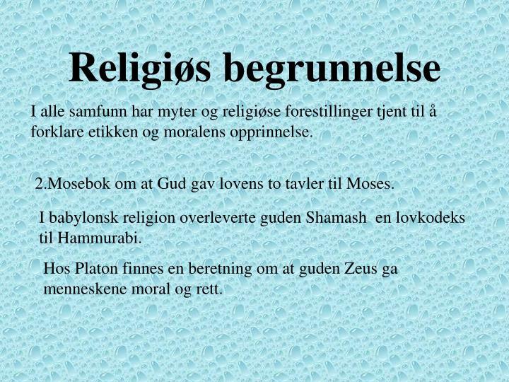 Religiøs begrunnelse