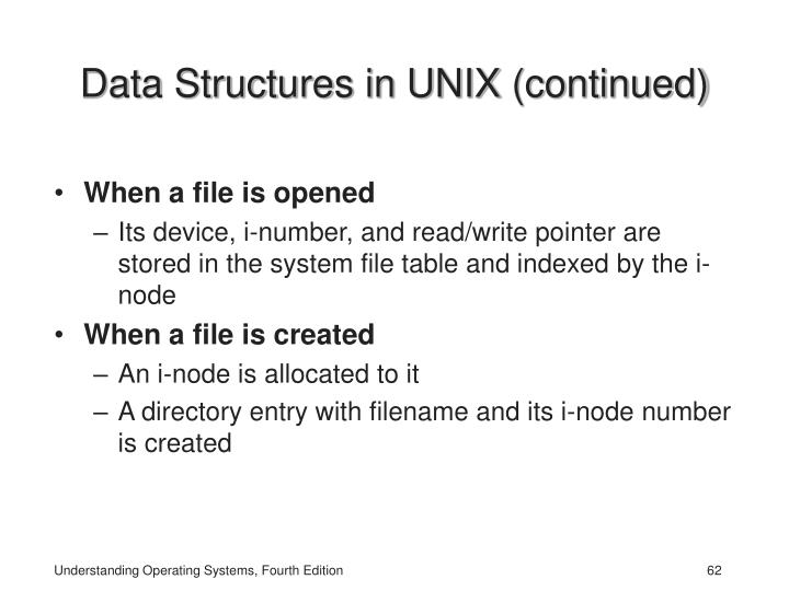Data Structures in UNIX