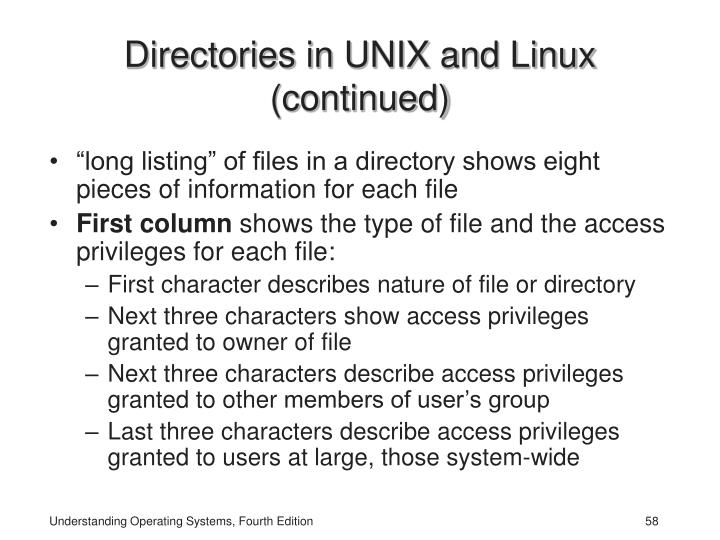 Directories in UNIX and Linux