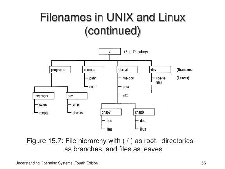 Filenames in UNIX and Linux