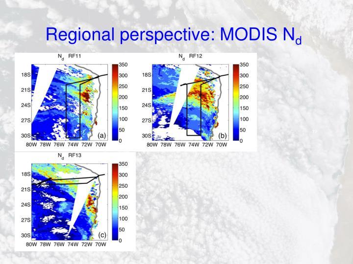 Regional perspective: MODIS N