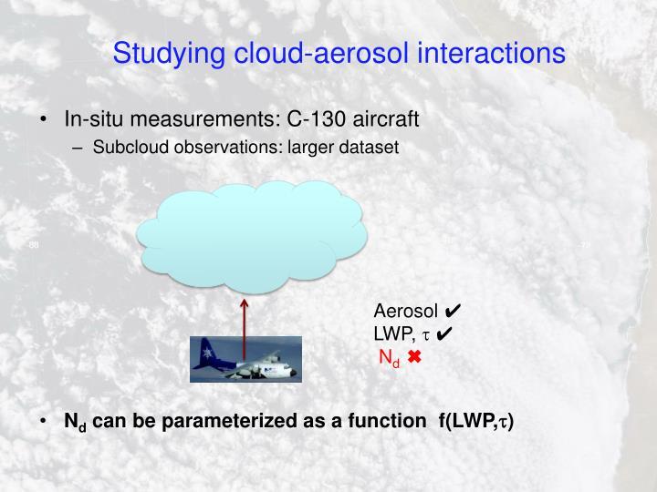 Studying cloud-aerosol interactions