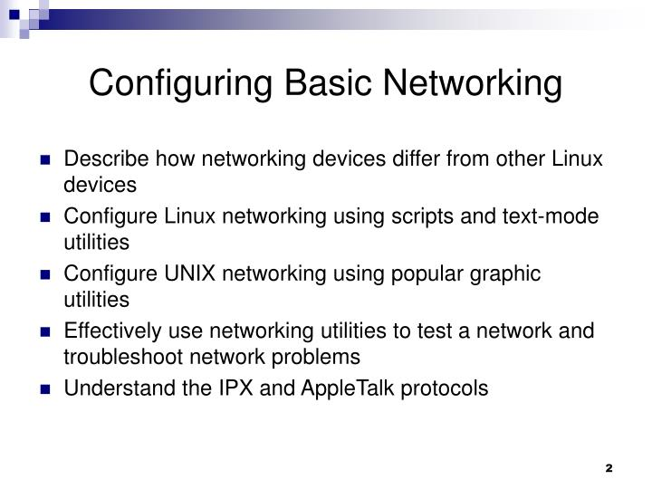 Configuring Basic Networking
