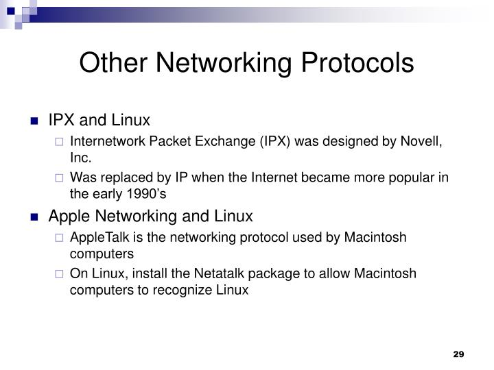 Other Networking Protocols