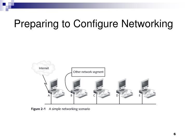 Preparing to Configure Networking