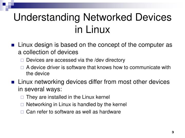 Understanding Networked Devices in Linux