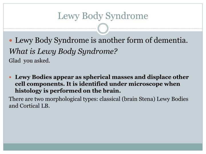 Lewy Body Syndrome