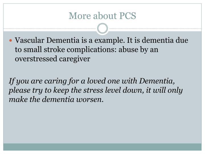 More about PCS