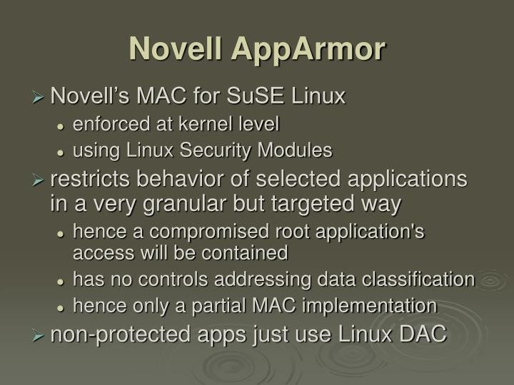 Novell AppArmor